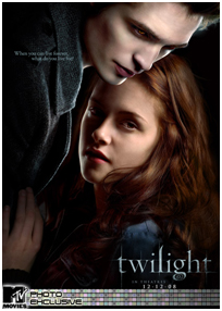 twilight poster with bella and edward